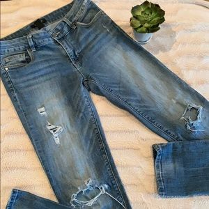 White House Black Market Women's Distressed Jeans